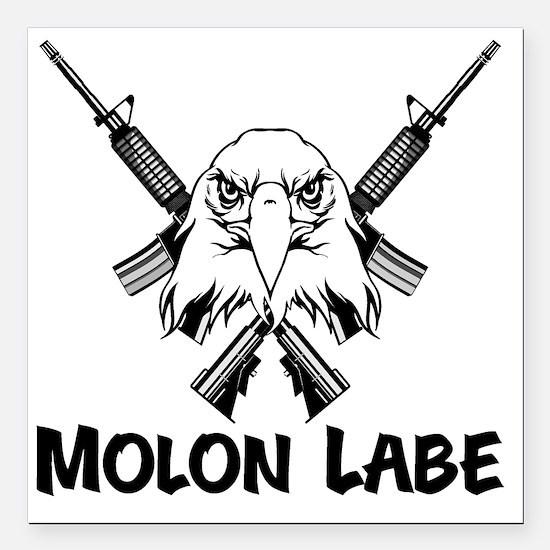 """Molon Labe Eagle Square Car Magnet 3"""" x 3"""""""
