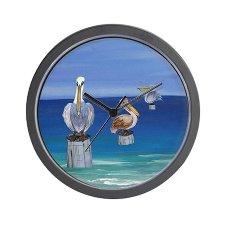 pelicans Wall Clock