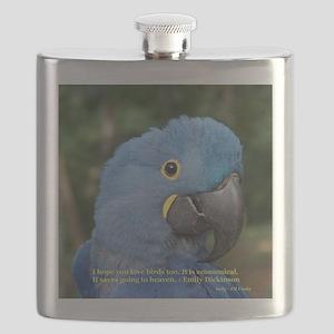 Hyacinth Macaw JM Csaky Flask