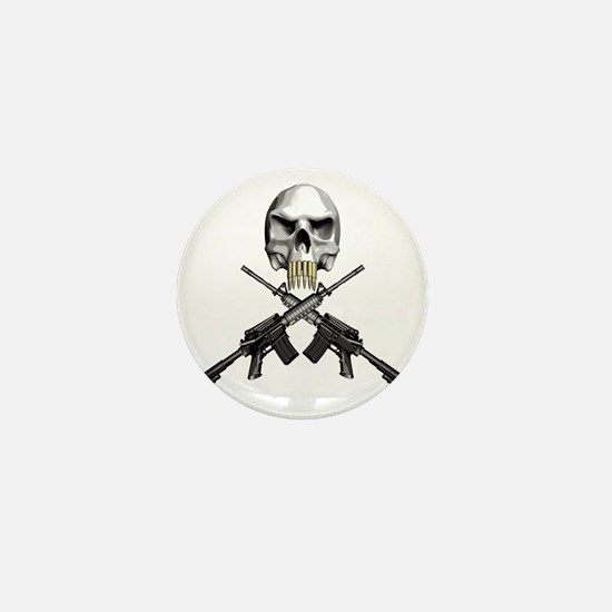 Skull Bullet teeth Mini Button