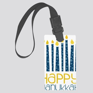Happy Hanukkah Large Luggage Tag