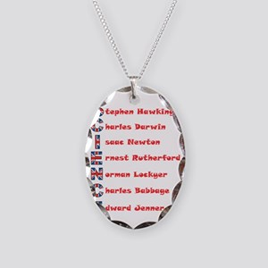 Science Thanks The English! Necklace Oval Charm