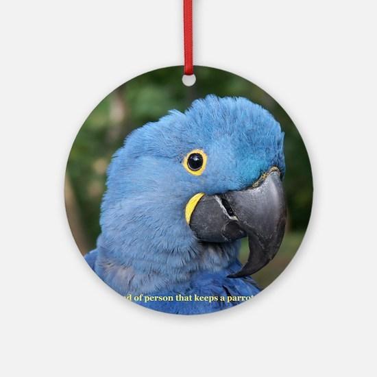 Hyacinth Macaw JM Csaky Round Ornament