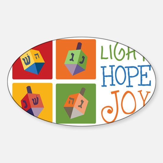 Light Hope Joy Sticker (Oval)