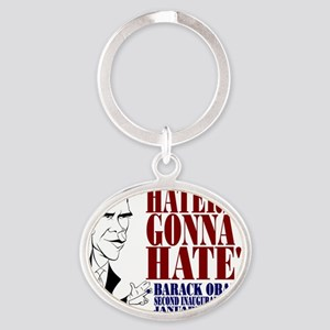 Obama Inaugural Address Oval Keychain
