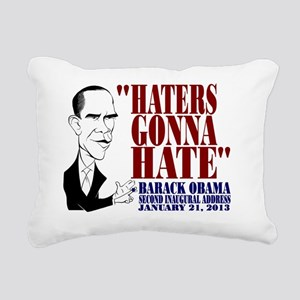 Obama Inaugural Address Rectangular Canvas Pillow