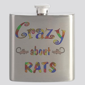 Crazy About Rats Flask