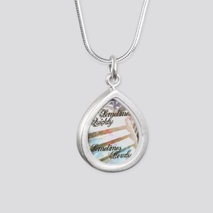 Sometimes Quickly, Somet Silver Teardrop Necklace