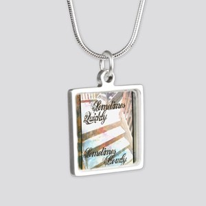 Sometimes Quickly, Sometim Silver Square Necklace