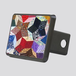 Tumbling Blocks Patchwork  Rectangular Hitch Cover