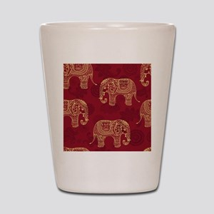 Beautiful Elephant Pattern Shot Glass