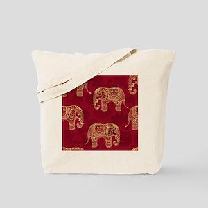 Beautiful Elephant Pattern Tote Bag