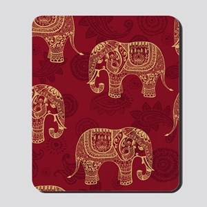 Beautiful Elephant Pattern Mousepad