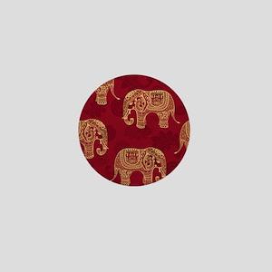 Beautiful Elephant Pattern Mini Button