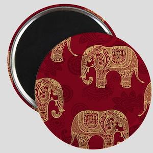 Beautiful Elephant Pattern Magnet