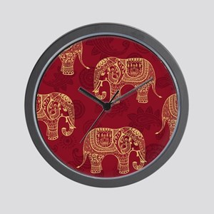Beautiful Elephant Pattern Wall Clock