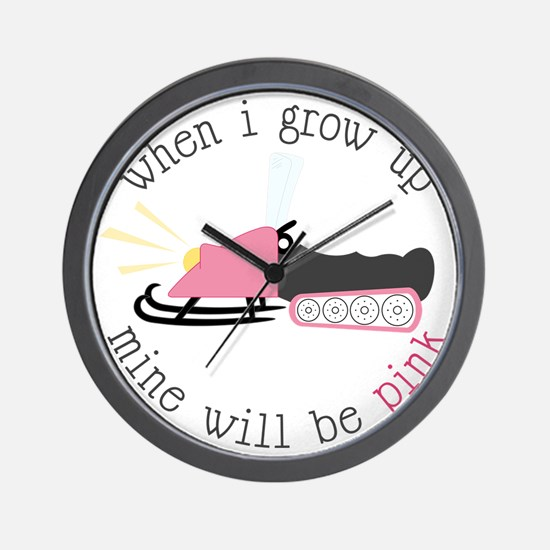 When I Grow Up Wall Clock