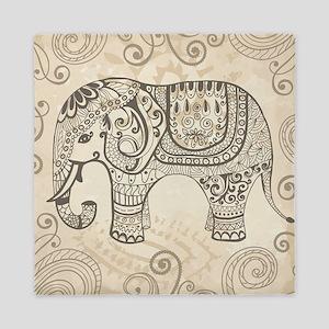 Vintage Elephant Queen Duvet