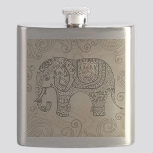 Vintage Elephant Flask