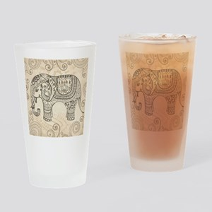 Vintage Elephant Drinking Glass