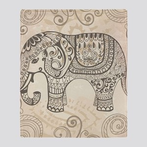 Vintage Elephant Throw Blanket
