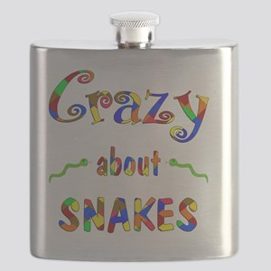 Crazy About Snakes Flask