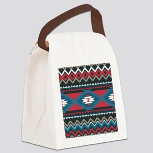 Native Pattern Canvas Lunch Bag