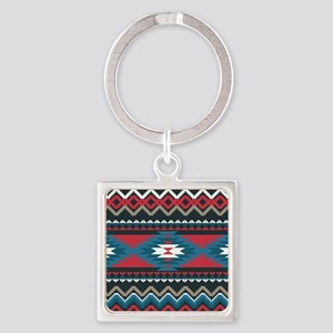 Native Pattern Square Keychain