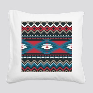Native Pattern Square Canvas Pillow