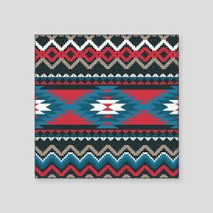 "Native Pattern Square Sticker 3"" x 3"""