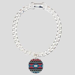 Native Pattern Charm Bracelet, One Charm