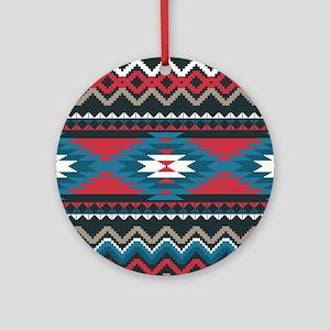 Native Pattern Round Ornament