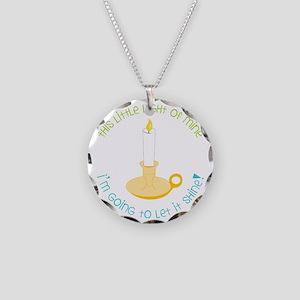 Let It Shine Necklace Circle Charm