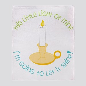 Let It Shine Throw Blanket