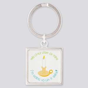 Let It Shine Square Keychain