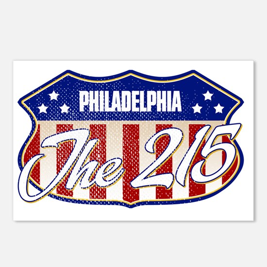 Philadelphia The 215 Postcards (Package of 8)