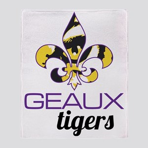Louisiana Tigers Throw Blanket