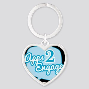Apps 2 Engage Logo Items Heart Keychain