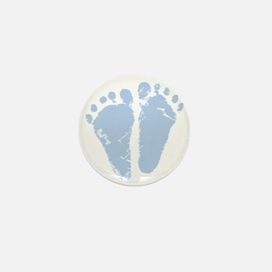 Blue Precious Feet Mini Button