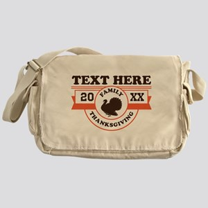 Family Thanksgiving Personalized Messenger Bag