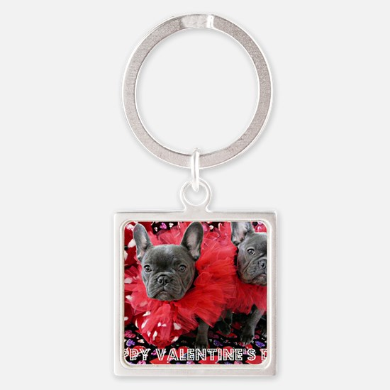 Valentine's Day card Square Keychain