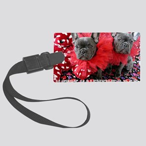 Valentine's Day card Large Luggage Tag