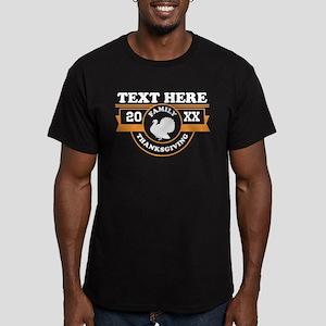 Family Thanksgiving Pe Men's Fitted T-Shirt (dark)
