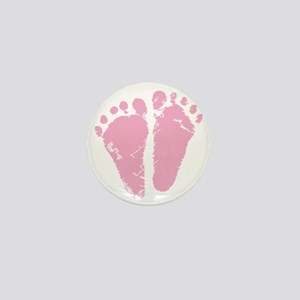 Pink Feet Mini Button