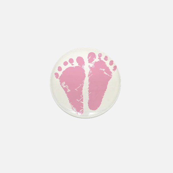 Pink Feet Mini Button