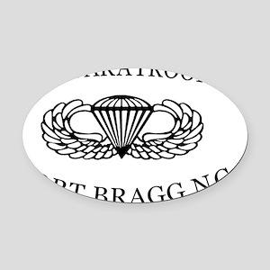 U.S.Paratroops Fort Bragg Oval Car Magnet
