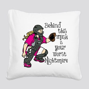 Nightmare Square Canvas Pillow