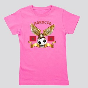 Morocco Football Designs Girl's Tee