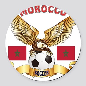 Morocco Football Designs Round Car Magnet