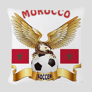 Morocco Football Designs Woven Throw Pillow